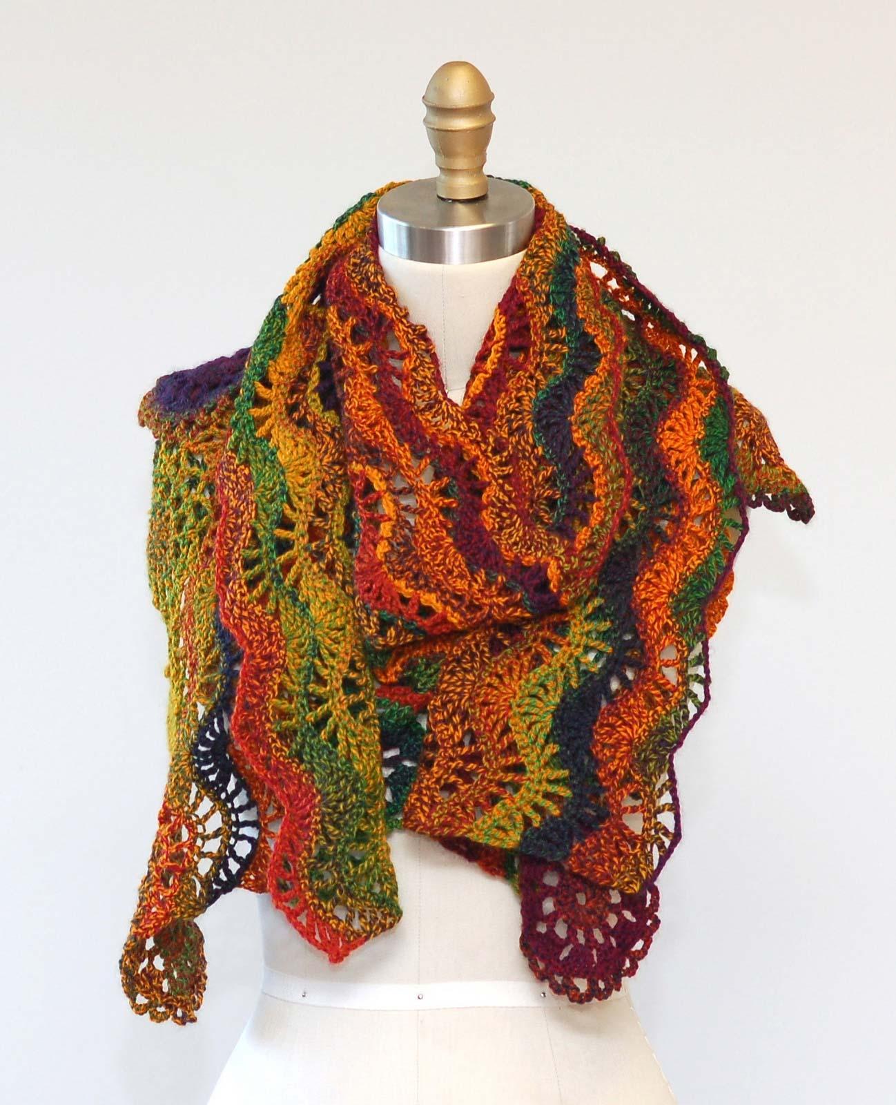 Scarf Crochet Pattern Ripple As You Go photo 2